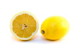Lemons isolated. Yellow lemons isolated on white background Royalty Free Stock Photos