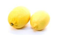 Lemons isolated. Two Lemons isolated on white background Royalty Free Stock Photography