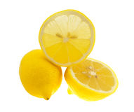 The lemons isolated on white. Stock Images