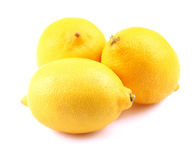 Lemons isolated on a white. Royalty Free Stock Photo