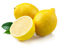 Lemons isolated on white background Royalty Free Stock Image