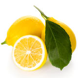 Lemons isolated Stock Images
