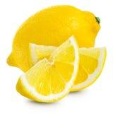 Lemons. Isolated on white background Stock Photos