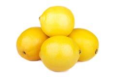 Lemons isolated on a white. Background Royalty Free Stock Images