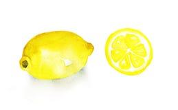 Lemons isolated on white background Stock Images