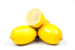 Lemons isolates on white Royalty Free Stock Images