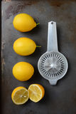 Lemons and Juicer Royalty Free Stock Image