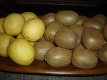 Lemons and kiwis Royalty Free Stock Photo