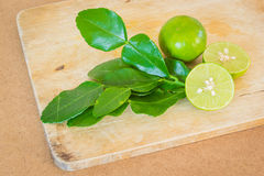 Lemons with leaf Stock Images