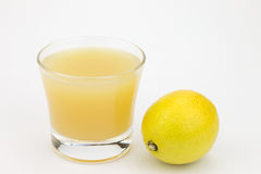 Lemons and lemon juice Stock Photo
