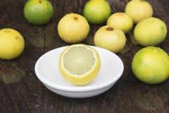 Lemons. Lemon yellow with health benefits Stock Photo