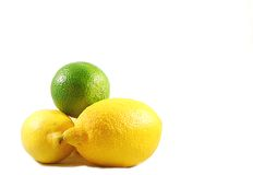 Lemons and lime Royalty Free Stock Images