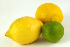 lemons lime arkivfoton