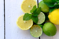 Lemons and lime Royalty Free Stock Photos