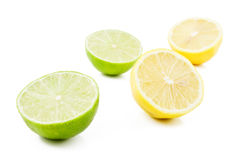 Lemons and Limes. On white Stock Photography