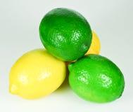 Lemons and Limes. Beautiful Fresh Lemons and Limes Royalty Free Stock Image