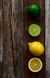 Lemons and limes Royalty Free Stock Photos