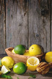 Lemons and limes Stock Images
