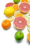 Lemons, limes, oranges and red grapefruits Stock Photo
