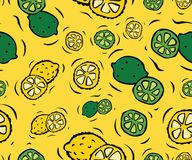 Lemons and Limes Seamless Pattern Royalty Free Stock Image