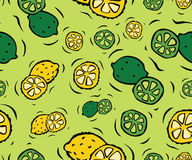 Lemons and Limes Seamless Pattern Royalty Free Stock Images