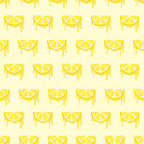 Lemons on Looped Background Royalty Free Stock Photography