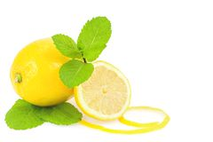 Lemons and mint Stock Images