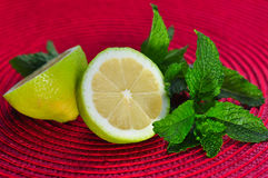 Lemons and mint Stock Photos