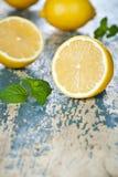 Lemons With Mint Stock Image