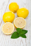 Lemons and Mint Royalty Free Stock Images