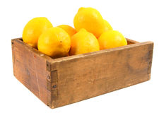 Lemons in an old box Royalty Free Stock Photography