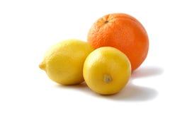 Lemons and orange Stock Photography
