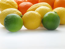 Lemons and orange. A close up of a bunch of Lemons and oranges Stock Photography