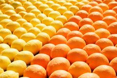 Lemons and oranges stock photos