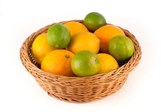 Lemons and oranges Royalty Free Stock Photo