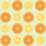 Lemons and oranges background Stock Images
