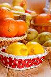 Lemons, oranges, pears and apples Stock Photo