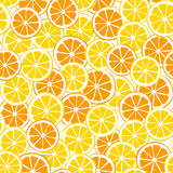 Lemons and oranges slices seamless pattern Stock Image
