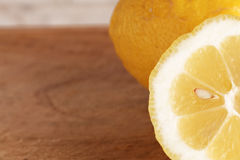 Lemons from organic farming, one cutted Royalty Free Stock Photo