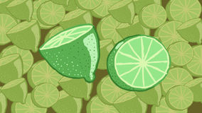 Lemons over lemons. Lemons, lemonade background, full green royalty free illustration