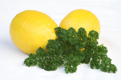 Lemons & parsley Stock Photo