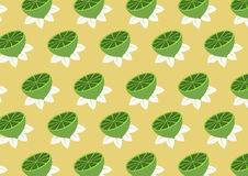 Lemons pattern Stock Photography
