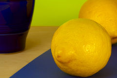 Lemons and pitcher Stock Image