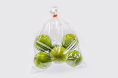 Lemons in a plastic bag Royalty Free Stock Image