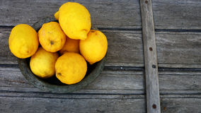 Lemons. In a plate for use Royalty Free Stock Photo