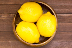Lemons in plate Royalty Free Stock Image