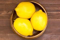 Lemons in plate Royalty Free Stock Image