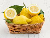 Lemons from Sorrento. Amalfi coast royalty free stock photo