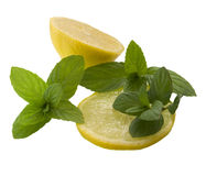 Lemons with the spearmint Royalty Free Stock Image