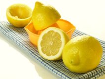 Lemons for squeezing, isolated Stock Images